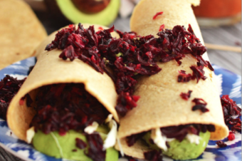 Recetas orgánicas: Chiles rellenos de quinoa y Tacos de jamaica.