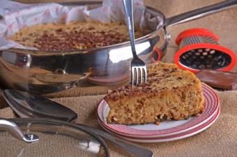 Receta: Pastel en sartén de granola