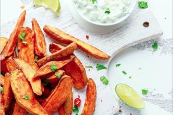 RECETA: Camotes al horno y dip de superfoods